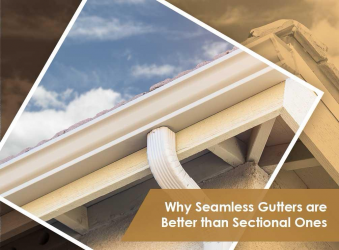 Why Seamless Gutters are Better than Sectional Ones